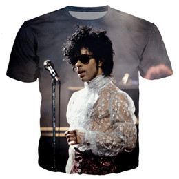 prince tees Coupons - American Singer Prince Roger Nelson Women Men New Fashion Summer Unisex Funny 3d Print Crewneck Casual T Shirt Tops Tee Q14