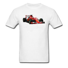 Camisa fresca de carreras online-Cool T Shirt Hombres Blanco Rojo Classic Grand Theft Auto camiseta Funny Gamer T-shirt Custom O-Neck GP Car Race T-Shirts Popular