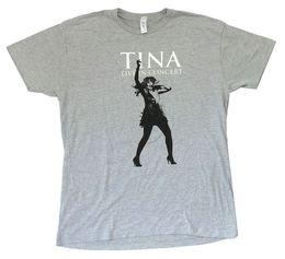 Tina Turner Chant en direct Image T-shirt gris chiné Nouveau t-shirt officiel en jurney souple ? partir de fabricateur