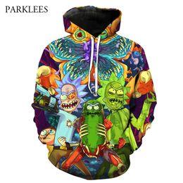 Wholesale Mens Hoodies 6xl - 3D Rick And Morty Hooded Sweatshirt Men Women 2018 Funny Cartoon Print Hoodies Sweatshirts Mens Harajuku Casual Sweat Homme 6XL