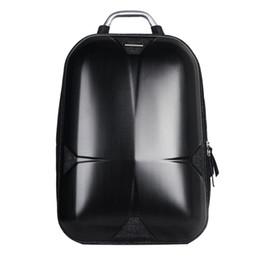 Poignées pour ordinateur portable en Ligne-Sacs de moto sac à dos avec poignée hommes femme sacs à dos pour ordinateur portable sac à dos dur coquille imperméable cartable mode ordinateur intercalaire sac