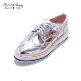 d4bd4683 Distribuidores de descuento Plataforma De Zapatos Brogue De Las ...