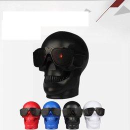 Wholesale Mp3 Skull Music - Skull Shape Wireless Bluetooth Speaker Sunglass Mobile Subwoofer Multipurpose Music Column Loud 0pcs lot