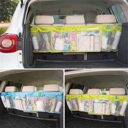 Wholesale High Back Car Seats - Automobile Storage Bag High Capacity Oxford Cloth Mesh Net Car Seat Back Hanging Bags Multi Color 7 5yh V