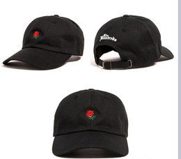 Wholesale Korean Baseball Hats - Hot Sale Adjustable Summer Cotton Baseball Cap Fashion Flower Rose Couple Ball Cap Casual Embroidery Bend Korean Snapback Sun Hat