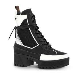 3110fdb6041 Luxury New Louise Womens Ankle Half Army Platform Waterproof Boot Casual  Knight Martin Motorcycle Lace Up Boots Size 35-42