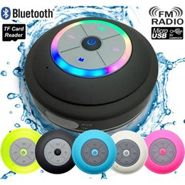 Wholesale Car Bass - Bluetooth Speaker LED Waterproof Wireless Shower Handsfree Mic Suction Chuck Speaker Car Speaker Portable mini MP3 Super Bass Call Receive