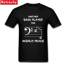 camicie di note musicali Sconti Bass Player Bass Clef Music Notes Tees Shirt for Men 1990S Tee Tops O Neck Sconto Brand Tees Camicie regali di San Valentino