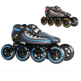 Wholesale Carbon Fiber Heated - Original Cougar SR9 Speed Inline Skates Heat Modelable Carbon Fiber Competition Skates 4 Wheels Racing Skating Shoes Patines