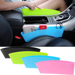 Wholesale Car Side Seat Organizer - PP Auto Car Seat Console Organizer Side Gap Filler Pocket Organizer Storage Box Bins Bag Pocket Holder 4 Colors WX9-292