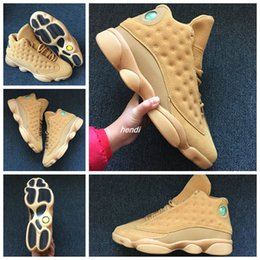 Wholesale Wheat Free - 2018 Cheap fashion trainers Air Retro 13 XIII Wheat Yellow Men Basketball Shoes Sports Sneakers Retros 13s Boost free shipping size 8-13