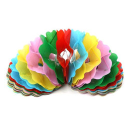 wholesale big paper flowers Australia - 1PCS Large Paper Pull Flower Garland Magic Tricks Props Toys for Children Best Stage Comedy Baby Kids Educational Fun Game Gifts