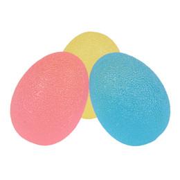 pelota de terapia Rebajas 3PCS Grip Strengthening Therapy Stress Balls, Resistance Squeeze Eggs, Home Exercise Kits Hand Exercise Balls, Power Ball 3 colores