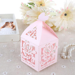 Wholesale Wholesale Wedding Bonbonniere - 20pcs Hollow paper Candy Box Bonbonniere Wedding Gift Boxes Travel Themed Party for Anniversary Birthday Baby Shower Box