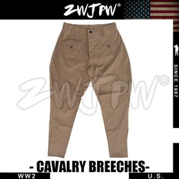 Wholesale Man Hunting Pants - Wholesale-US Army Cavalry Breeches WW2 Trousers Cotton Pants US 503101