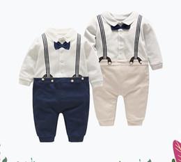 5t vestito nero solido Sconti New Arrival Boy's Formal Wear Kids Formal Wear Dress Gentleman Baby Dress Suspenders Bowtie Gentleman's Baby Jumpsuit