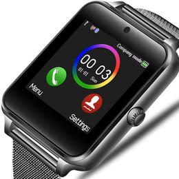 смотреть телефоны из нержавеющей стали Скидка Новые смарт-часы Мужчины Женщины Bluetooth телефон камеры из нержавеющей стали ремешок спорт шагомер фитнес трек Smartwatch для Android IOS