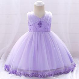 Meilleures robes de baptême en Ligne-La robe d'anniversaire de bébé fille dentelle perlée robe de mariée robe de baptême robe jupe bonne exécution meilleur prix mode pour toutes les saisons