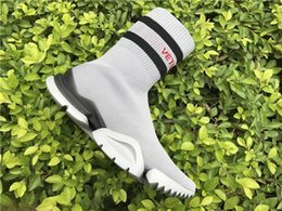 Wholesale Ankle Boots For Women - 2018 Speed sock high quality Speed Trainer running shoes for men and women sports shoes Speed stretch-knit Mid sneakers ,size Eur 36-44