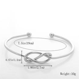 Wholesale Love Knot Bangle - 925 Sterling Silver Jewelry Cuff Bangle Bracelet Vintage Craft Simple Love Knot Opening Adjustable Bracelets for Women