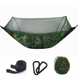 Swing automatico online-Smart Outdoor Hammock Camping Automatic Openning Zanzariere Amache portatile Hammac DOuble Person Handing Chair Swing Bed