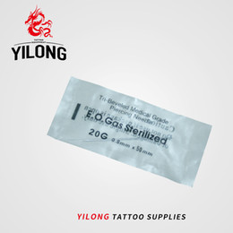 Wholesale Needle Nose - YILONG 20 Gauge 100PC Tattoo Piercing Needles Sterile Disposable Body Piercing Needles 20G For Ear Nose Navel Nipple Free Shipping