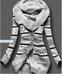Samt frau kleidung online-Bucrsatn Freies Verschiffen 2019 Europa und die Vereinigten Staaten neu plus dicke mit Kapuze Strickjacke der Samtjacke der Frauen