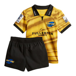 Wholesale Boys Rugby - 2018 2019 Hurricanes home rugby Jerseys kids NRL National Rugby League shirt nrl jersey New Zealand Club Hurricanes child kit shirts