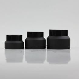 Canada Pot en verre de crème de givre de 15G 30G 50G avec l'emballage cosmétique de récipient blanc de joint de couvercles noirs, pot de crème 15G en verre F178 cheap 15g cream jars Offre