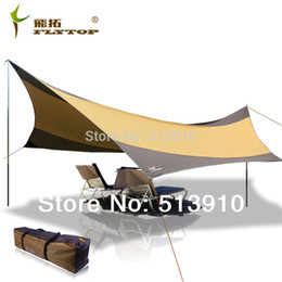 beach tents Promo Codes - 550*560CM waterproof UV awning camping tent Oxford silver coated large shelter beach tent