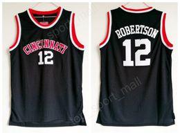 9c40f4cee Cheap Oscar Robertson Jersey 12 University Basketball Cincinnati Bearcats  College Jerseys Men Black Color Breathable For Sport Fans Sale