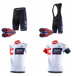 Wholesale Iam Cycling - IAM Cycling Short Sleeves jersey bib shorts Sleeveless Vest sets Summer hot fast dry racing bike wear resistant 9D gel pad D1915