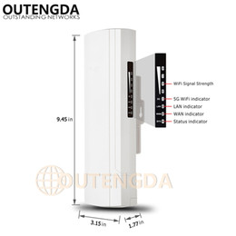 Wholesale Outdoor Wireless Adapter - OUTENGDA 450Mbps 3Km Outdoor CPE AP 5.8Ghz WiFi Bridge Router Wireless Wi-fi Repeater 14dBi Antenna 24V Poe Adapter