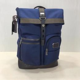 2019 mochilas de negócios laptop para homens TUMI nylon balístico 222388 dos homens de negócios casuais grande capacidade mochila bolsa para laptop preto azul maneira de Negócios moda casual