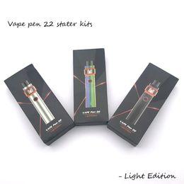 Canada Vape Pen 22 Kit 1650mAh édition légère batterie avec réservoir de base de 4 ml LED pour bobines de bande de maille Offre