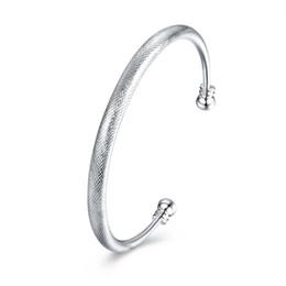 2019 pendentif ovale plaqué or en gros Original 925 Argent Bracelets Femmes Classique Argent Ouvert Fleur Ligne Bracelet 2018 Nouvelle Mode Pour Les Femmes Et Les Hommes Bracelet Bracelets