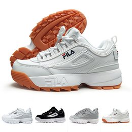 Wholesale red files - 2018 New Disruptors 2 Sawtooth white black II S Women men FILE Designer sports platform sneakers running Trainer Chaussures shoes 36-44