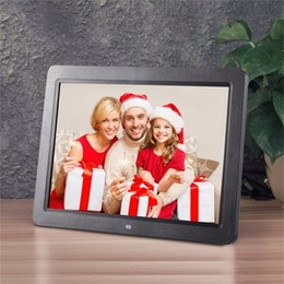 """Wholesale picture frame building - 12"""" Wide Screen HD LED Digital Photo Frame 1280 * 800 Electronic Picture Frame MP3 MP4 Player Clock Built in stereo speakers"""