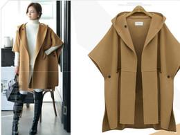 Wholesale Woollen Dresses - 5xl women's clothing Suit-dress Cloak Woolen Loose Coat Winter Clothes Woollen Overcoat Overcoat Fat Mm Long Windbreaker jacket