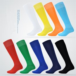 Wholesale Polyester Sheets - Youth football socks long tube male football stockings thin style color sheet sports performance socks A-0489