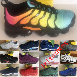 Wholesale Red Lace Material - 2019 New Maxes TN Men Women High Quality Running Shoes TN Nanotechnology KPU Material Classical Durable Sport Sneakers Size 40-45
