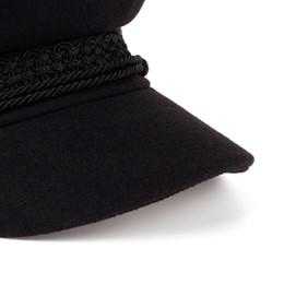 Wholesale military wool beret - New Fashion Military Hat Fashion Wool Hat Sun Visor Patchwork Beret Women Hatchback