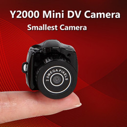 Wholesale mini keychain digital camera - Y2000 Mini Camera Portable HD Video Recorder DV DVR Camcorder Outdoor Pocket Digital Camera Support TF With Keychain Micro Cam