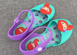 Deutschland 2019 Melissa Gelee Schuhe Mädchen Meerjungfrau Prinzessin Sandalen Kinder flache Sandale Kinder weichen Boden Schuhe Mädchen Duft Sandalen Versorgung