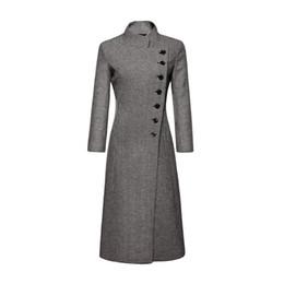 Outono inverno mulheres outerwear 2018 novo houndstooth single-breasted casaco de lã feminina mid-long Slim tamanho grande senhoras casaco cw390 de