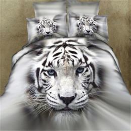Wholesale Lion King Bedding - Bedding Set Quality Cotton 3D Animal Leopard Rose Tiger Wolf Lion Pattern Twin king Bedclothes Bed Sheet Duvet Cover Bedspreads
