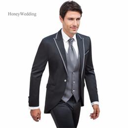 Wholesale Men Ivory Dress Pants - Purchase free shipping!!Customize the groom dress man suit crime wedding suits men (coat + pants + vest)