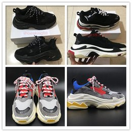 Wholesale Vintage Shoe Men - 2018 Retro Speed training Tripe-S 17FW Dad Shoe Fashion vintage Women Men Running Shoes Sport