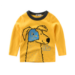 Wholesale Dog Jerseys - 27kids 2018 Spring New Arrival Baby Kids Cartoon Dog Leisure Sweater Long Sleeve T-shirt Jerseys Boys Clothes T Shirt Top