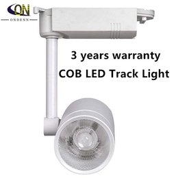 Wholesale Free Shipping Clothing Stores - 25W COB led track light clothing store spot lighting rail stand high power for Indoor lampada 85V~265V Free Shipping 8pcs lot